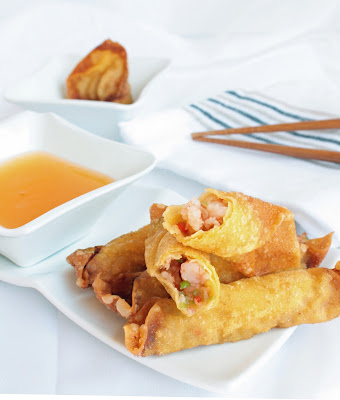 Shrimp in Wonton Wrappers