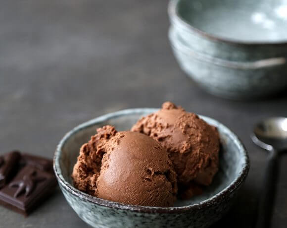 No Churn Keto Chocolate Ice Cream