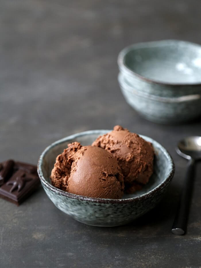 No Churn Keto Chocolate Ice Cream - no ice cream maker required!