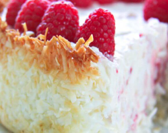 Keto Raspberry Cheesecake with Coconut Crust
