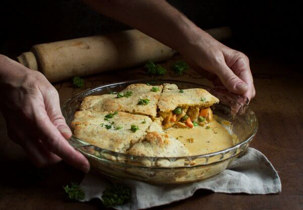 This Keto Chicken Pot Pie is the perfect low carb fall comfort food!