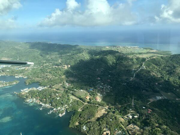Roatan from the air