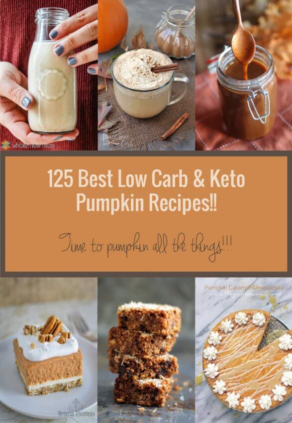 125 Best Keto Pumpkin Recipes - sweet and savory