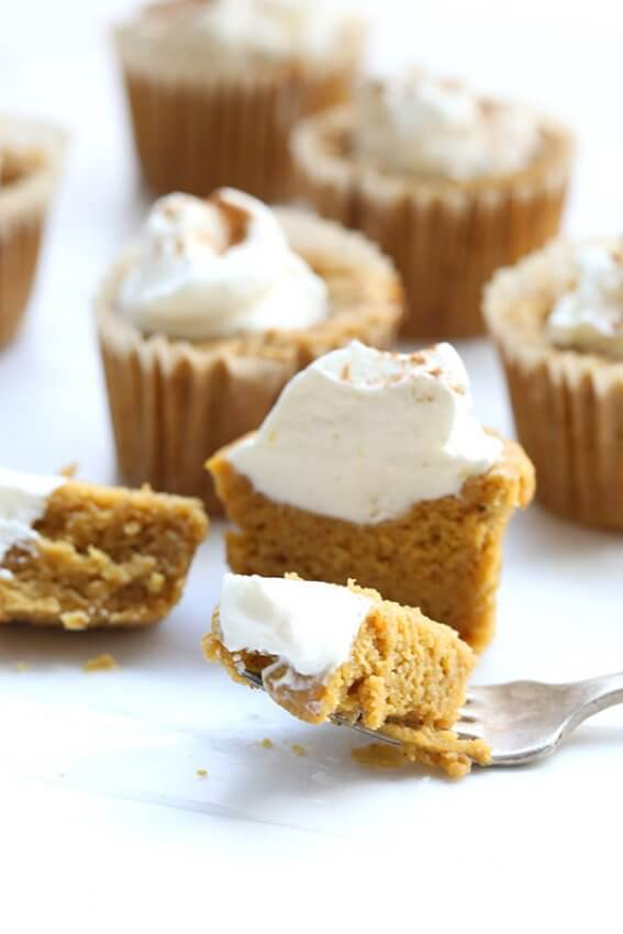 Pumpkin Pie Cupcakes with whipped cream on top