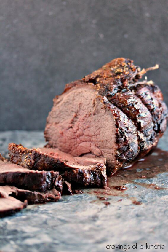 Cooked Sirloin Roast cut into slices