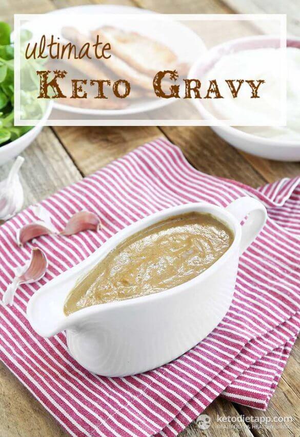 Keto Turkey Gravy in White Boat