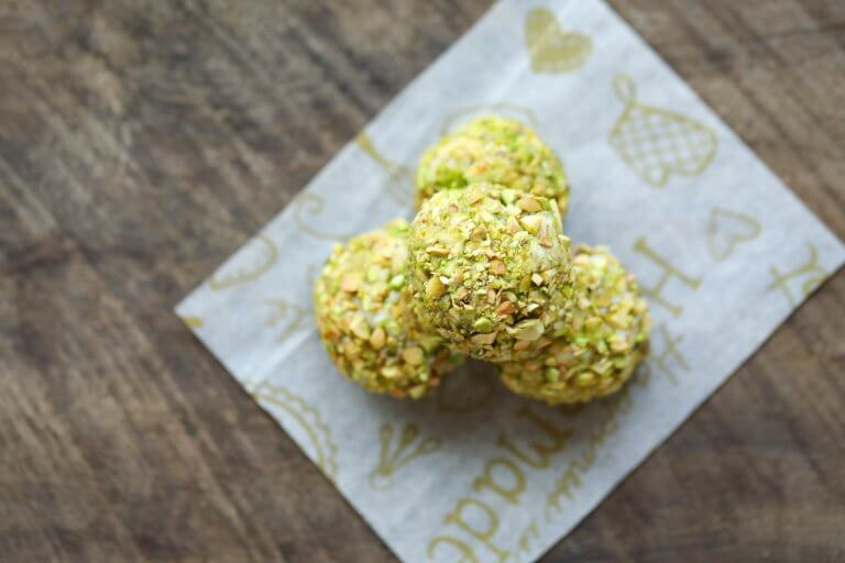 Keto Pistachio Truffles from above
