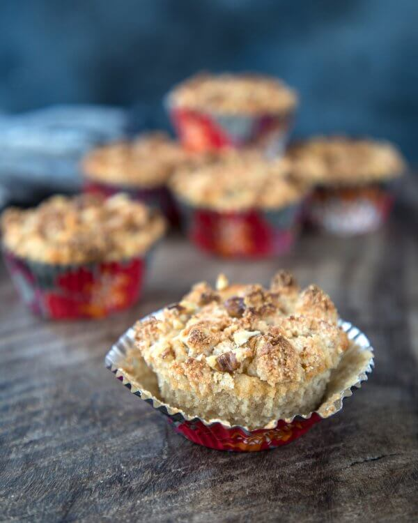 Cinnamon Walnut Streusel Muffins - Keto for Life