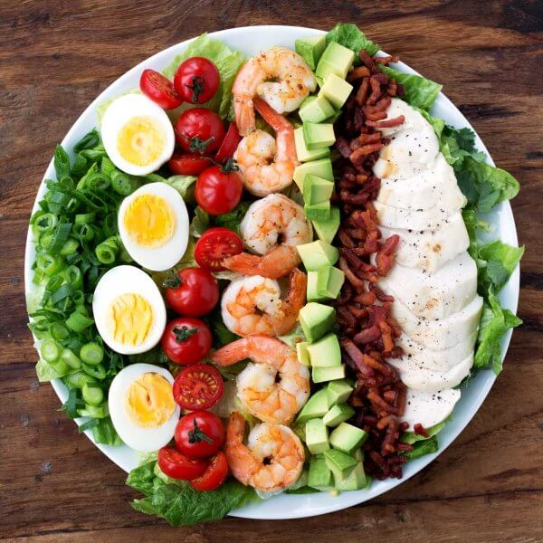 Best Keto Whole 30 Salad Recipes - Cobb Salad
