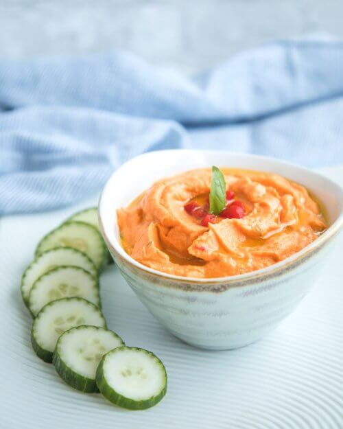 Roasted Red Pepper Hummus - Keto for Life