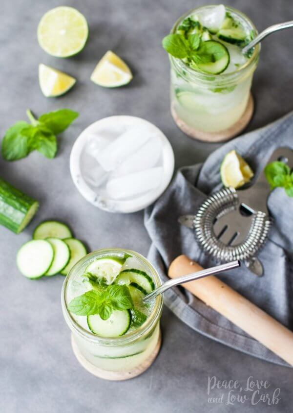 Best Keto Cocktails - Rum Cucumber Mojito
