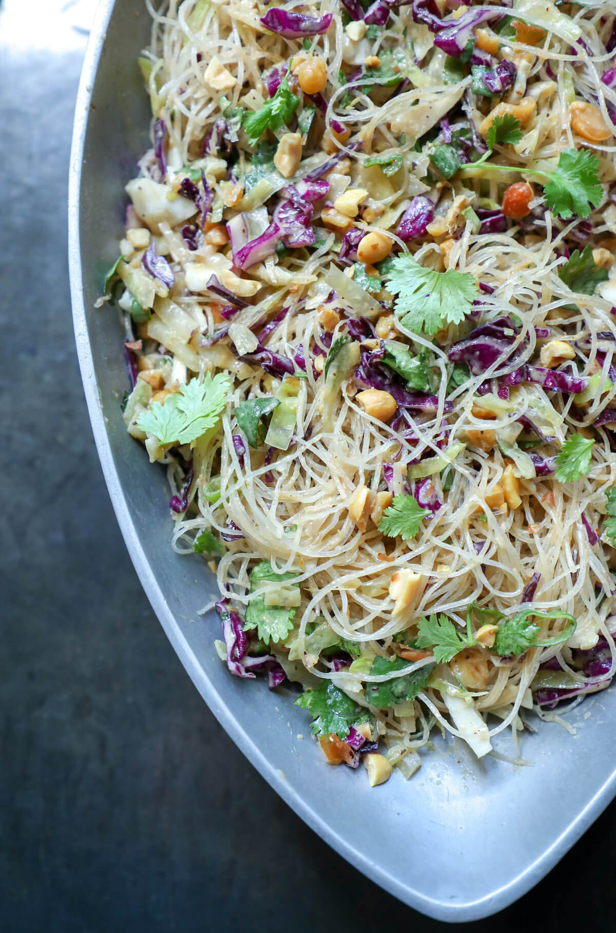 Keto Asian Noodle Salad With Peanut Sauce I Breathe I M Hungry