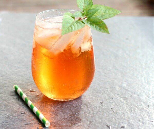 The Best Keto Cocktails - Peach Long Island Iced Tea