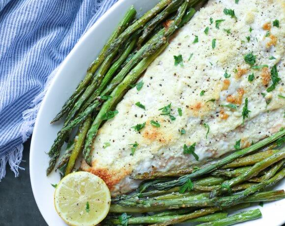 Keto Sheet Pan Salmon & Asparagus – Low Carb