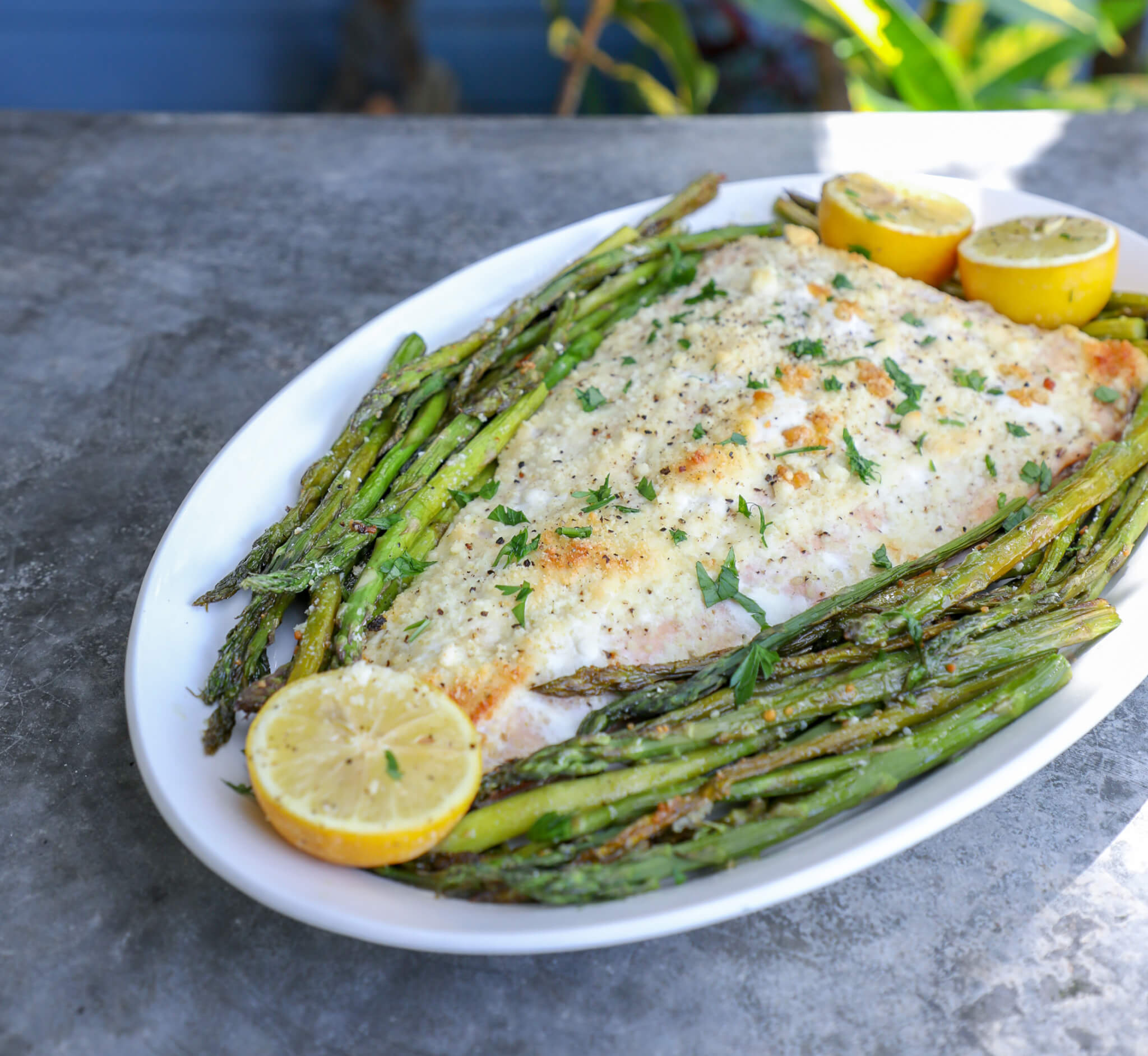 Keto Sheet Pan Salmon & Asparagus