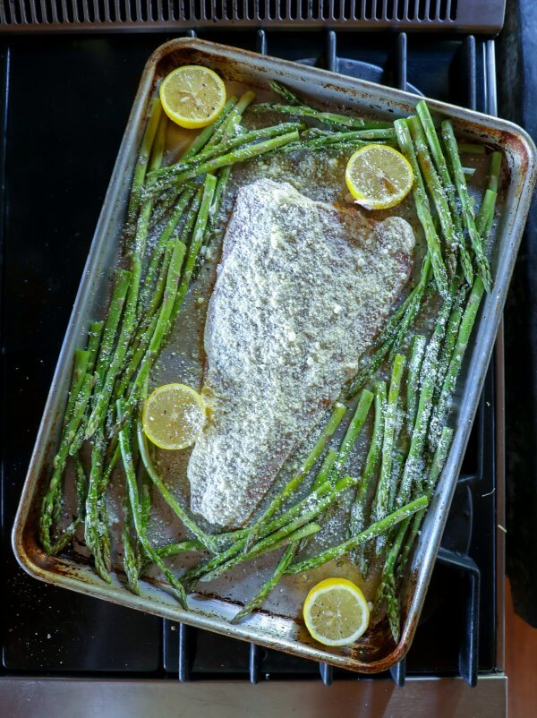 Keto Sheet Pan Salmon & Asparagus raw