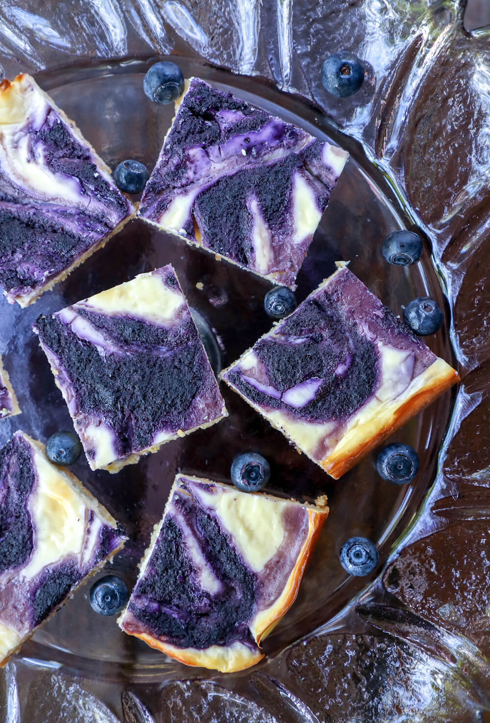 Easy Keto Blueberry Cheesecake Bars - make the most of blueberry season while still keeping it low carb and losing weight!  Gluten free and Atkins Friendly!