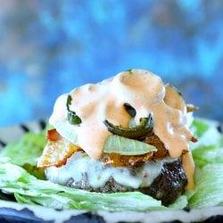 Keto Sheet Pan Burgers with Bacon & Jalapeño | I Breathe I'm