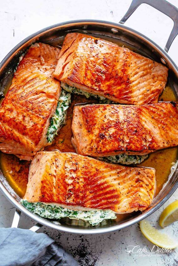 Best Keto Seafood Recipes - Salmon 7