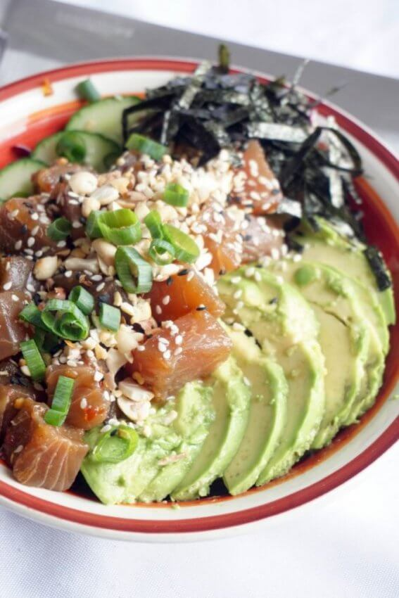 Seared Tuna Poke Bowl