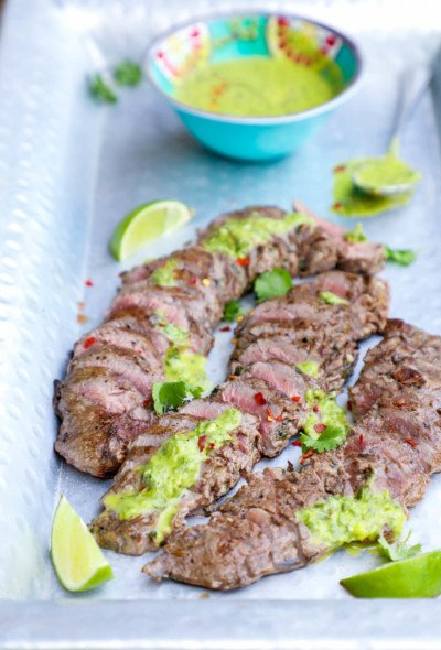 Keto Carne Asada with Chimichurri Sauce