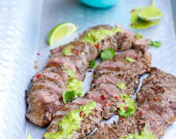 Keto Carne Asada & Chimichurri Sauce