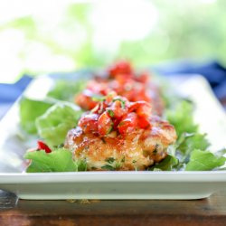 Keto Fish Cakes with Roasted Red Pepper Salsa 2