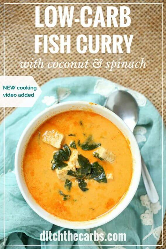 Best Keto Seafood Recipes - fish curry