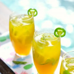 Keto Spicy Mango Mojitos by the pool