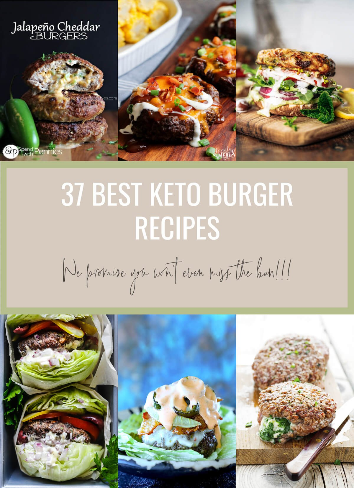 When you're craving a big juicy low carb burger, this list of the 37 Best Keto Burger Recipes will be right up your alley!  We promise that you won't even miss the bun!