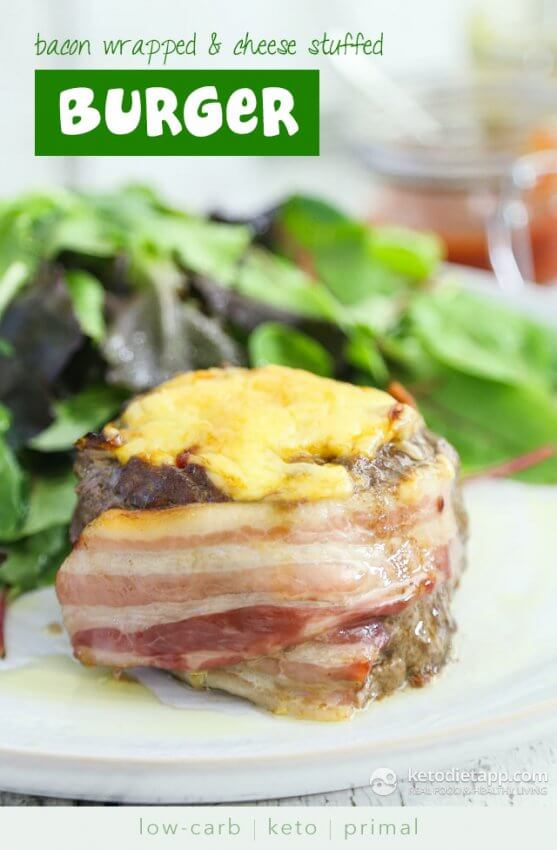 Best Keto Burger Recipes - bacon wrapped