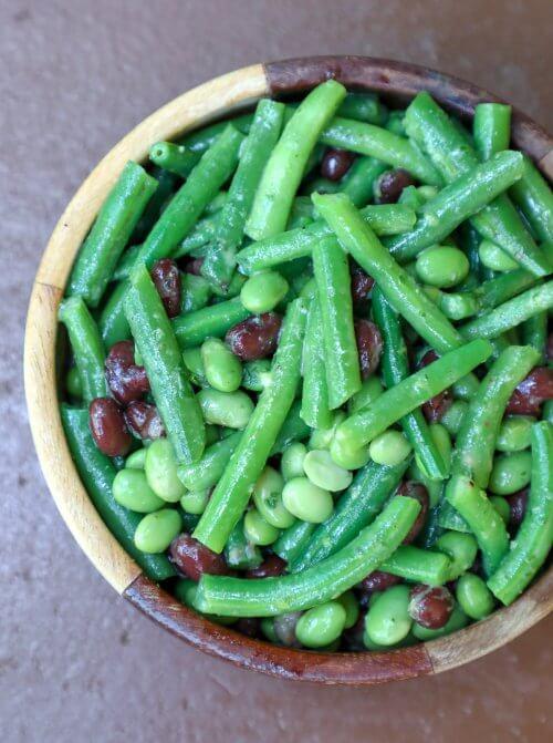 Keto 3 Bean Salad shot from above