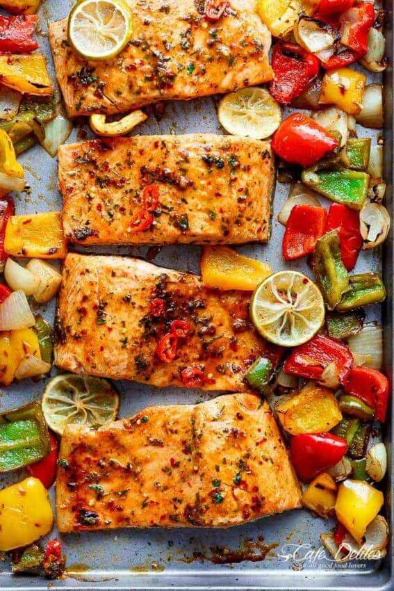 25 Best Keto Sheet Pan Meals - chili lime salmon