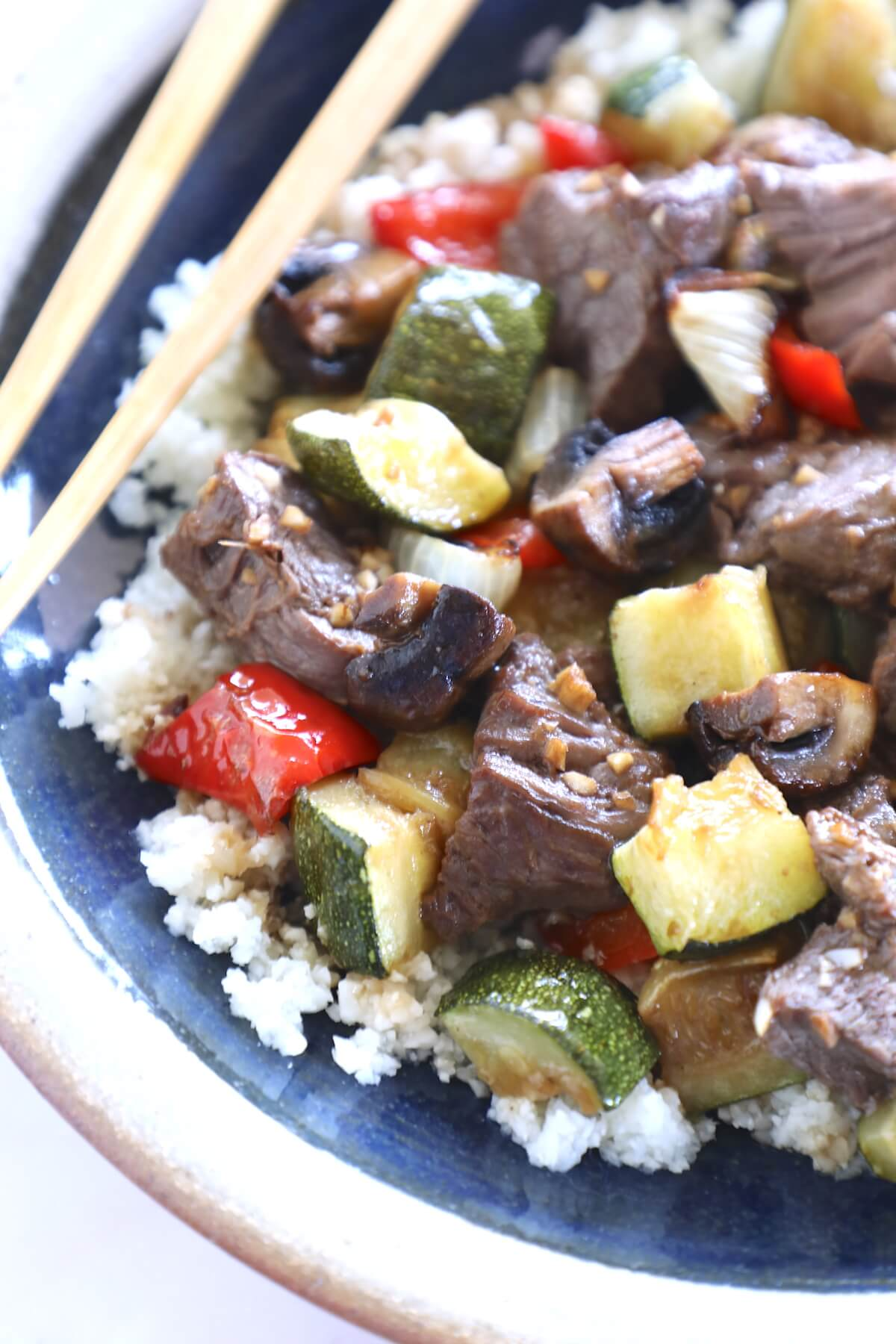 This super easy keto sheet pan hibachi beef and vegetables will make all of your