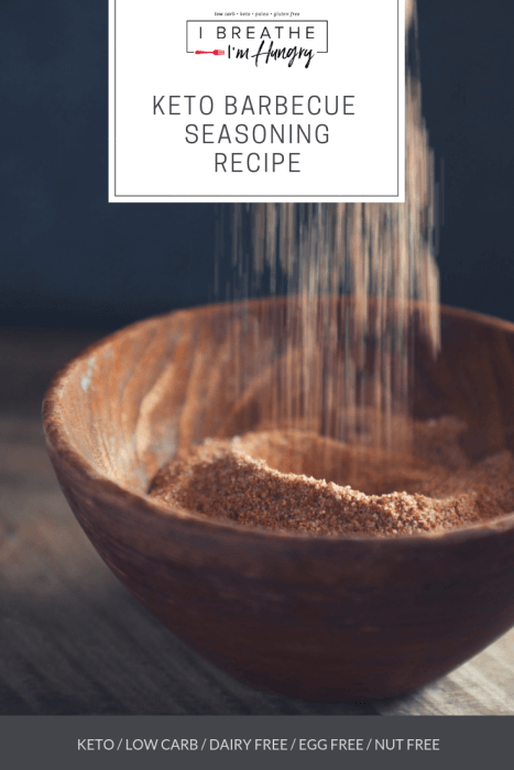 keto barbecue seasoning with text overlay