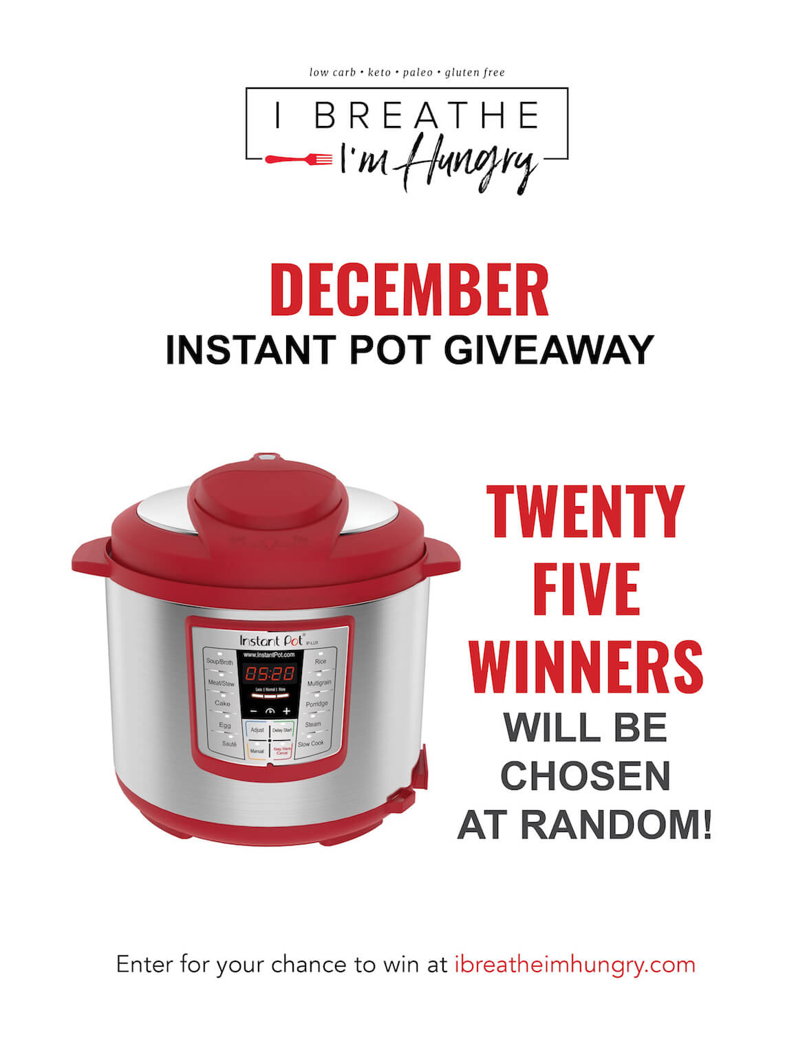 December Instant Pot Giveaway Twenty Five Winners I Breathe I
