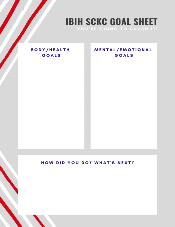 IBIH SCKC goal sheet - get ready to crush it this month!