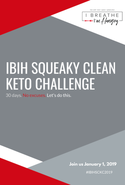 IBIH Squeaky Clean Keto Challenge Cover Page
