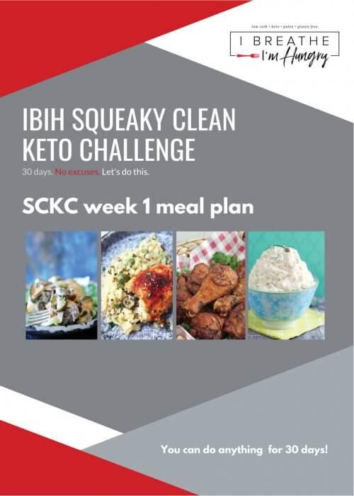 IBIH Squeaky Clean Keto Week 1 Meal Plan graphic