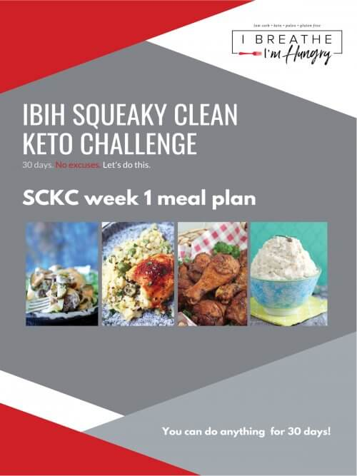 IBIH Squeaky Clean Keto Week 1 Meal Plan Graphic