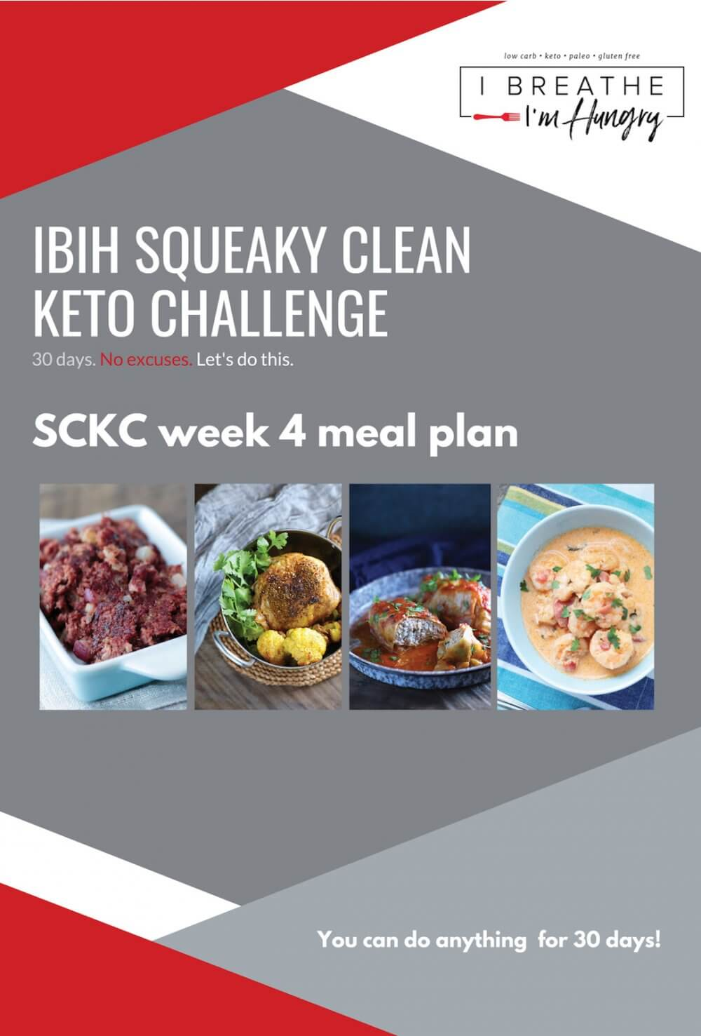 Week 4 Squeaky Clean Keto Challenge Meal Plan