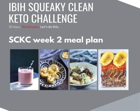 Squeaky Clean Keto Week Two Meal Plan