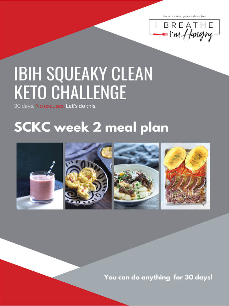 Squeaky Clean Keto Week Two Meal Plan