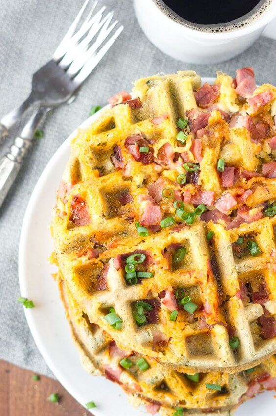 Best Keto Ham Recipes - waffles