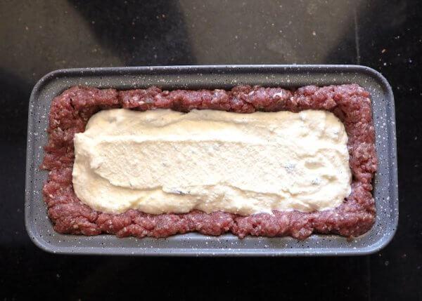 Ricotta filling - Keto Lasagna Meatloaf step 3