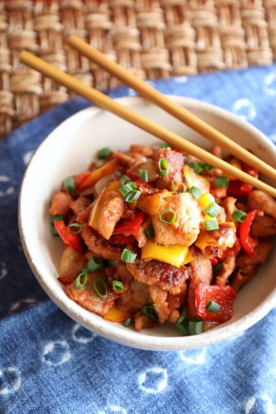 Keto Sweet & Sour Pork Sheet Pan Meal | I Breathe I'm Hungry