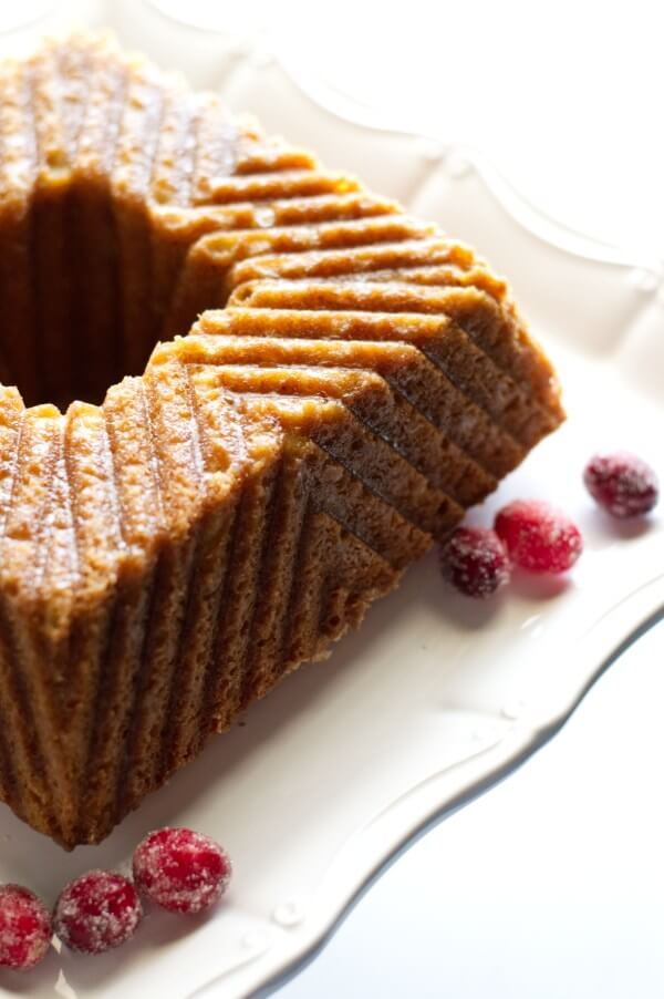 Square buttered rum cake with pattern
