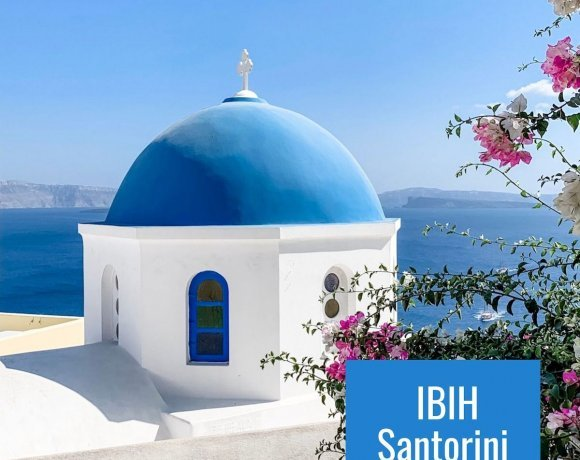 IBIH Santorini Vacation Travel Guide Poster