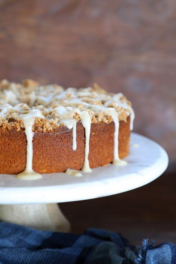 Keto Pumpkin Chai Coffee Cake