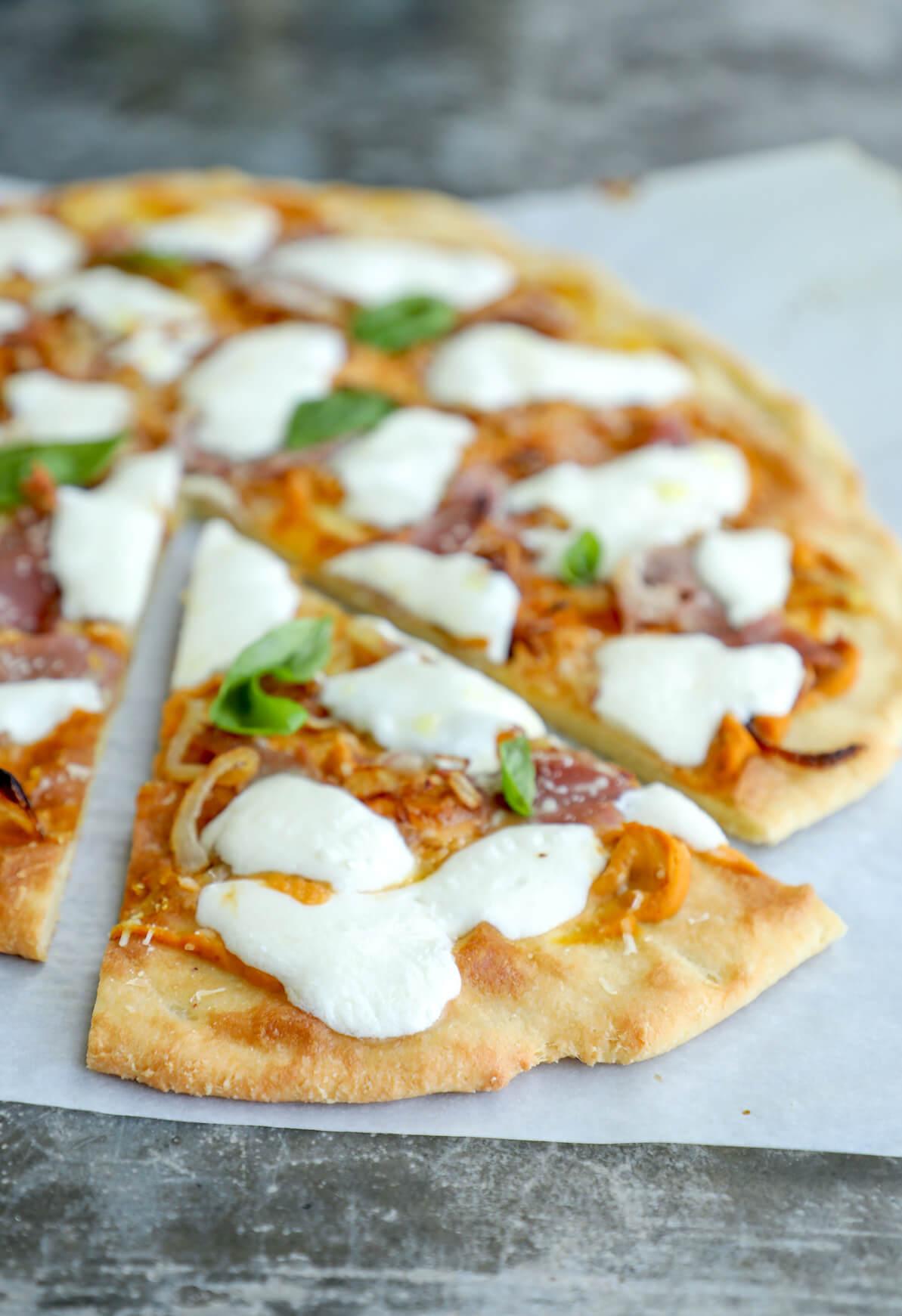 Keto Pumpkin Prosciutto Pizza Low Carb